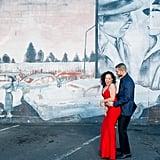 Glamorous City Engagement Shoot