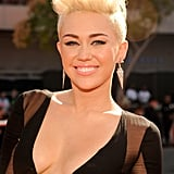 Miley Cyrus showed off her new haircut at VMAs.