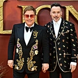 Pictured: Elton John and David Furnish at The Lion King premiere in London.