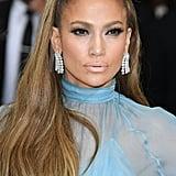 Jennifer Lopez With a Voluminous Caramel Ponytail