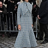 Miroslava Duma at the Christian Dior Paris Haute Couture show.