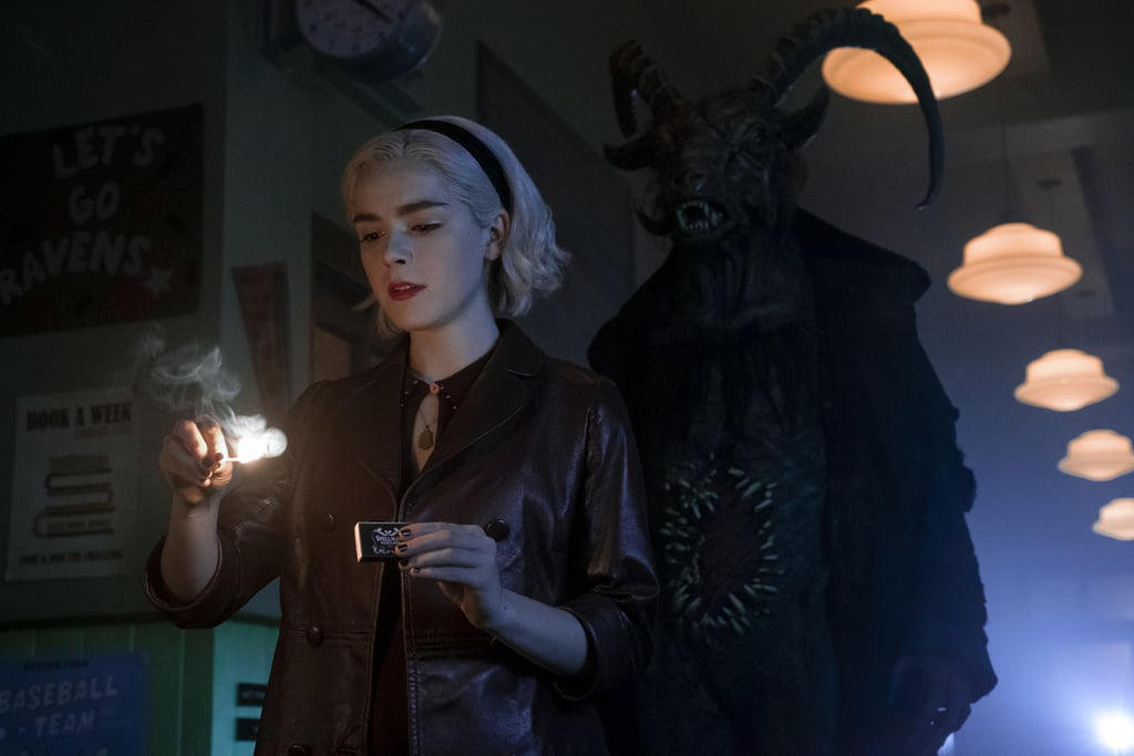 We're finally getting our first look at part two of Netflix's Chilling Adventures of Sabrina, and it looks like things are getting even spicier! When we last leave Greendale, Sabrina and company are going through a rough Winter's Solstice, and it looks like part two is only bringing more chaos. As we already know, Sabrina will be diving into the curious nature of her witch-hood and spending less time in the mortal world than she did previously. This means we'll be seeing a lot more of the Church of Night and, of course, Miss Wardwell and the Dark Lord (who may go by the suitably dramatic name Lucius Morningstar).  Like the blessed dark one it is, Netflix dropped the first few photos from part two, and they're enough to get our theory wheels turning! Check out the photos ahead, and get ready to renew your membership to the Church of Night when Chilling Adventures of Sabrina returns on April 5.      Related:                                                                                                           10 Juicy Details We've Conjured About Chilling Adventures of Sabrina Season 2