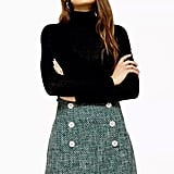 Topshop Green Boucle Mini Skirt