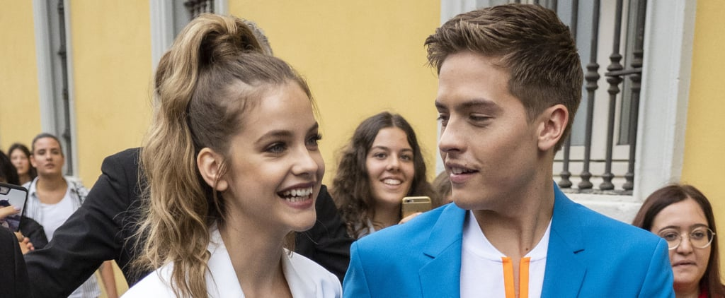 Dylan Sprouse and Barbara Palvin Wearing Matching Suits