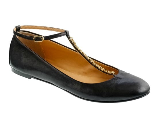 This slick pair of black ballet flats gets a cool upgrade via chain T-strap and is perfect for your sophisticated work wardrobe. J.Crew Jayne T-Strap Ballet Flats ($198)