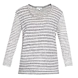 James Perse Collage Stripe Cotton-Jersey T-Shirt ($125)