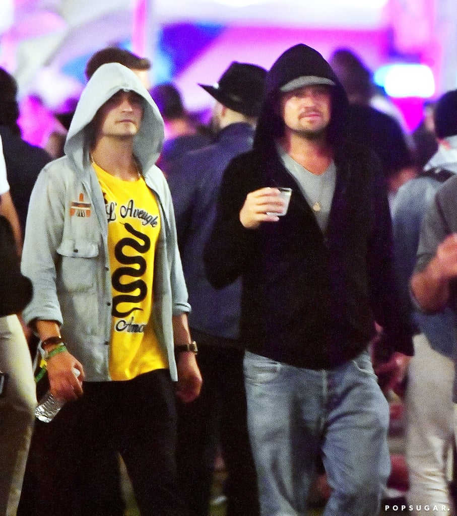 "Several stars flocked to the desert for Coachella over the weekend, and two of those stars were Leonardo DiCaprio and Orlando Bloom. On Saturday, the duo was spotted hanging out in the VIP area of the Neon Carnival, which was presented by Levi's with Tequila Don Julio, and is just a few miles from the music festival. Both Orlando and Leo kept a low profile in jeans and a hoodie at the event, which also brought out Drake, Rihanna, Selena Gomez, and Nina Dobrev.       Related:                                                                                                           Couldn't Make It to Coachella? Live Vicariously Through These Celebrity Couples               While Nina and Orlando weren't pictured together, their outing comes amid rumors that the two are casually dating. According to People, ""They've known each other for a while. Recently they've been hanging out as more than friends. It's super casual."" Last year, Leo reignited romance rumors when he was photographed with Rihanna at the bash. No word on whether they reunited this year."