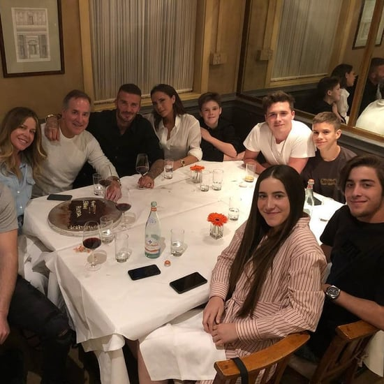 David and Victoria Beckham Dinner Instagram Photo June 2018