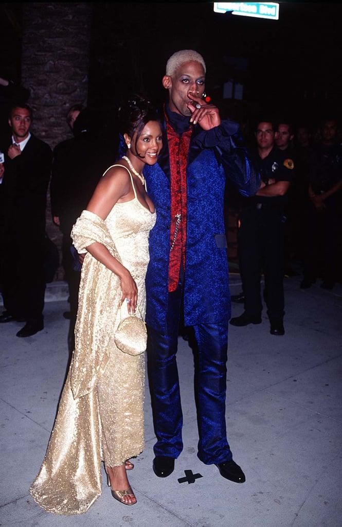 Dennis Rodman Smoked a Cigar With Vivica A. Fox