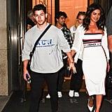 Priyanka Chopra White Dress With Nick Jonas at US Open