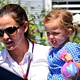 Jennifer Garner and Seraphina Affleck at a birthday party in LA.