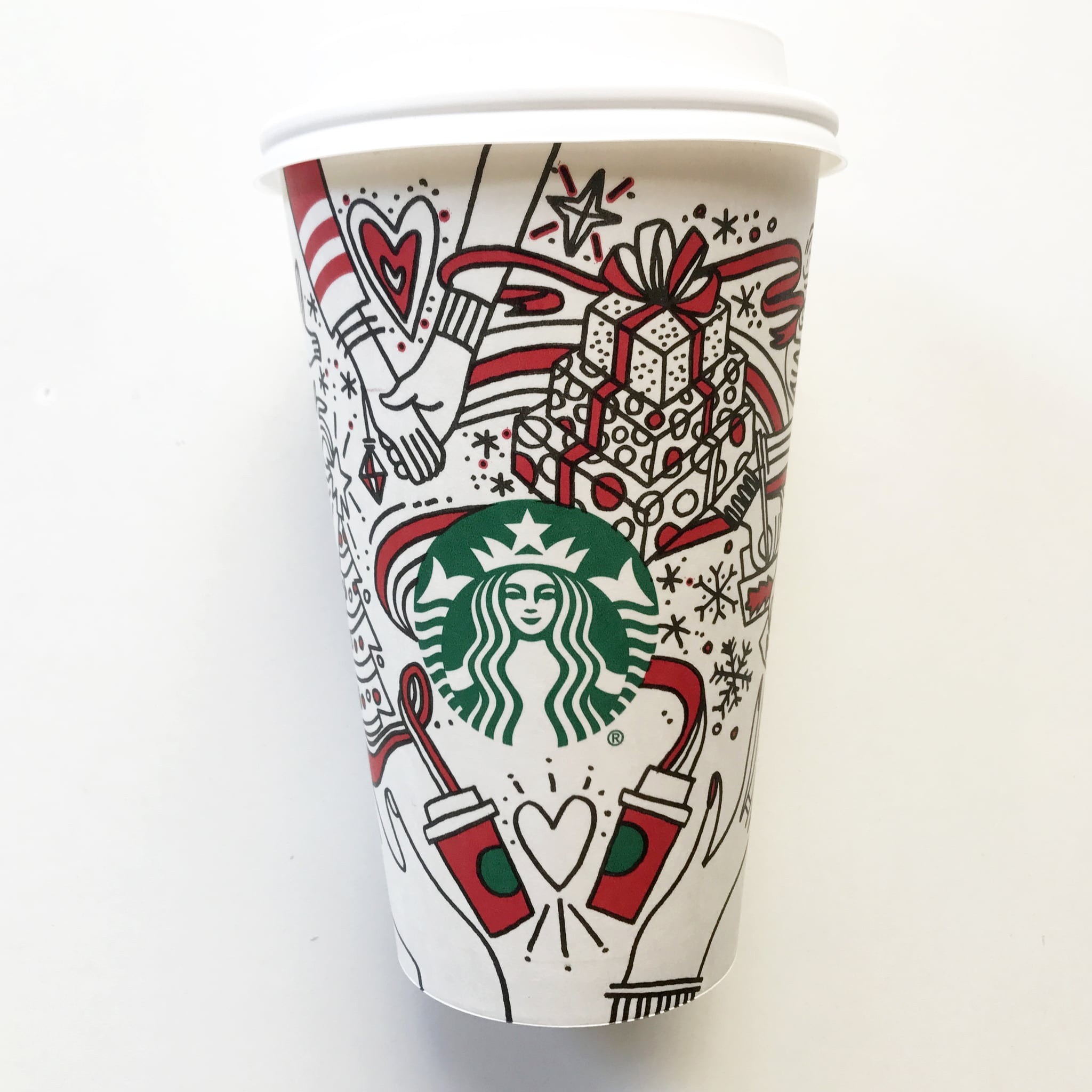 You are the artist of this year's Starbucks 'red cups'