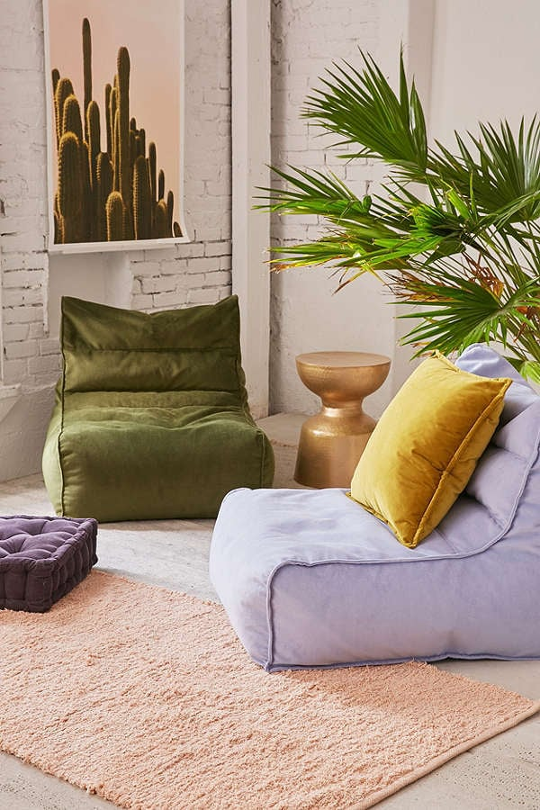 Urban Outfitters Charley Velvet Lounge Chair
