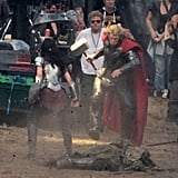 Chris Hemsworth Suits Up For Thor 2!