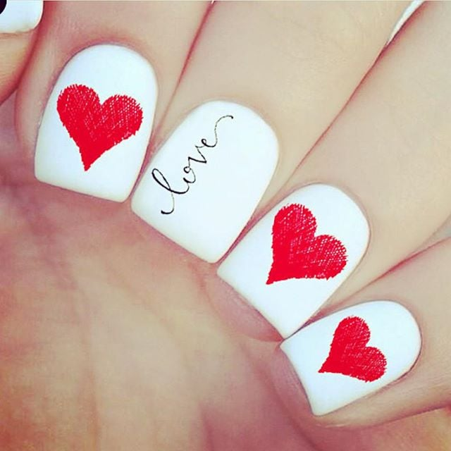 fall in love with the best valentines day nails from instagram - Valentines Nail