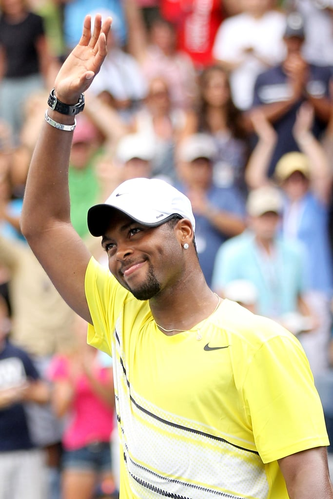 Donald Young shows a cute smile after defeating Juan Ignacio Chela of Argentina last Sunday.
