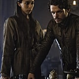 Robb Stark (Richard Madden) strategizes with his new wife, Talisa (Oona Chaplin).