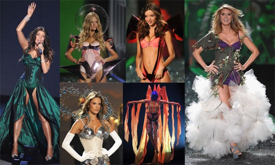 Photos of Runway and Catwalk at Victoria's Secret Show, Heidi Klum, Miranda Kerr, Marissa Miller, Selita Ebanks in Lingerie