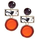 Red Agate Drop Earrings