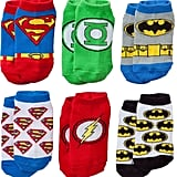 Justice League 6-pk. Low-Cut Socks