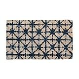 Shibori Print Blue and White Doormat