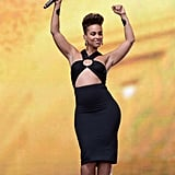 Alicia Keys performed at the Global Citizen Festival in Central Park.