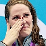 It was an unbelievable moment for 17-year-old Missy Franklin. In her first individual event at her first Olympics ever, Missy won gold in the 100m backstroke while also setting a new American record.
