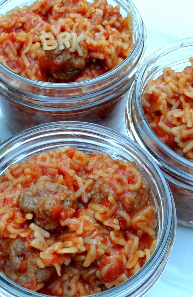 Homemade SpaghettiOs With Minimeatballs