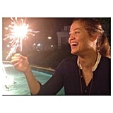 Erika Christensen had fun with sparklers. Source: Instagram user erikachristensen