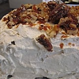 Pumpkin Cake with Pecan Brittle and Whipped Cream Cheese Frosting