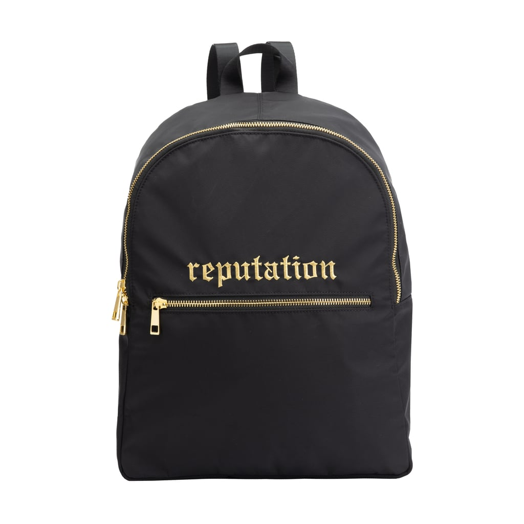 Black Backpack With Gold Tone Zippers