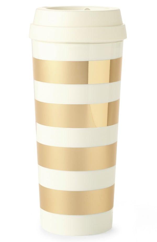 Gold Travel Coffee Mug ($18)