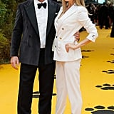 Pictured: Guy Ritchie and Jacqui Ainsley at The Lion King premiere in London.