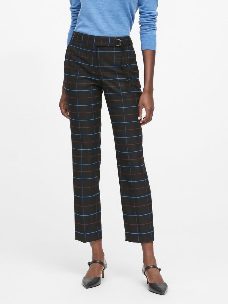 Avery Straight-Fit Plaid Pants