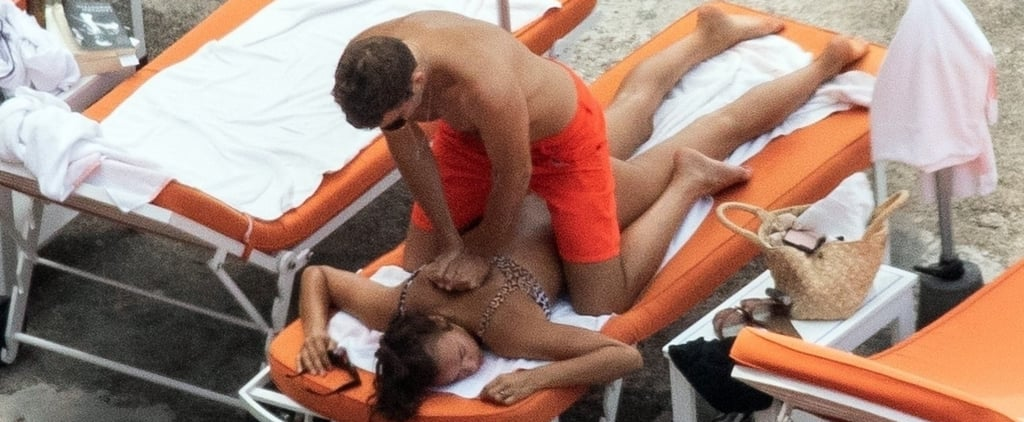 Bradley Cooper and Irina Shayk on the Beach in Italy 2018