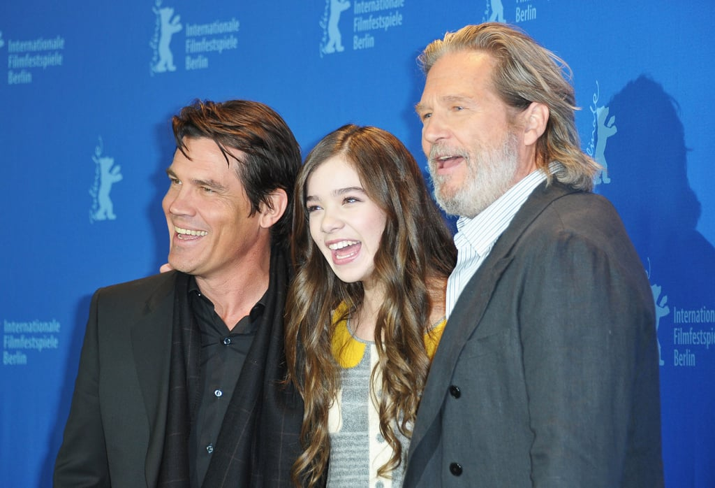 Hailee Steinfeld shared a few laughs with her True Grit leading men, Josh Brolin and Jeff Bridges, at a Berlin photocall for the movie yesterday. Jeff and Hailee headed to Germany to reunite with Josh after attending the Academy Awards Nominees Luncheon in LA earlier this week. Hailee and Jeff each earned a nod for their work in the western, which is also up for best picture. Matt Damon, who will spend this weekend in NYC doing press for The Adjustment Bureau with his dueling healthy-cover costar Emily Blunt, wasn't able to join his cast members in Europe. Even without Damon, the trio helped the movie on its final promotional push before the Oscars.