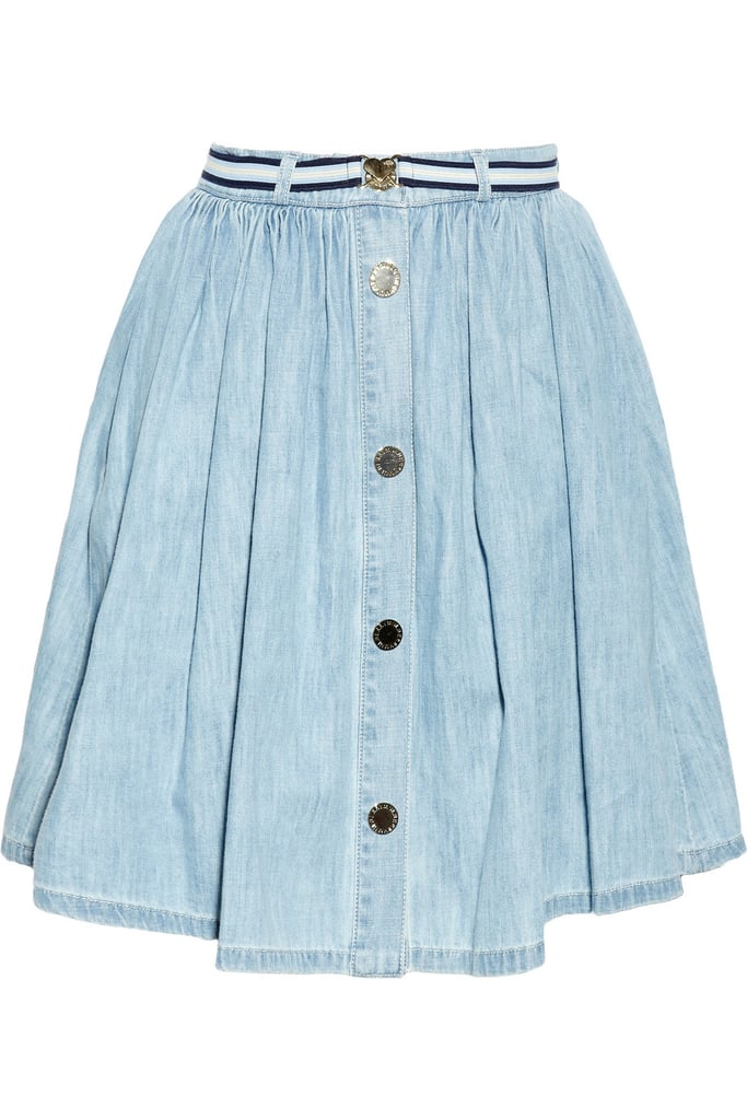 """Denim never goes out of style! The light wash of this skirt makes it perfect for summer. I'll team this with breton stripes and feel very Parisian!"" — Ashley Madekwe