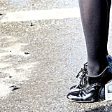 Clear-heeled oxfords that managed to be futuristic and retro all at once.