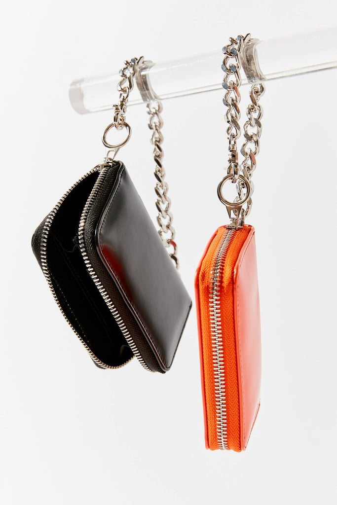 Faux Leather Chain Wallet