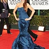 Sofia Vergara in Vera Wang at the Golden Globes.