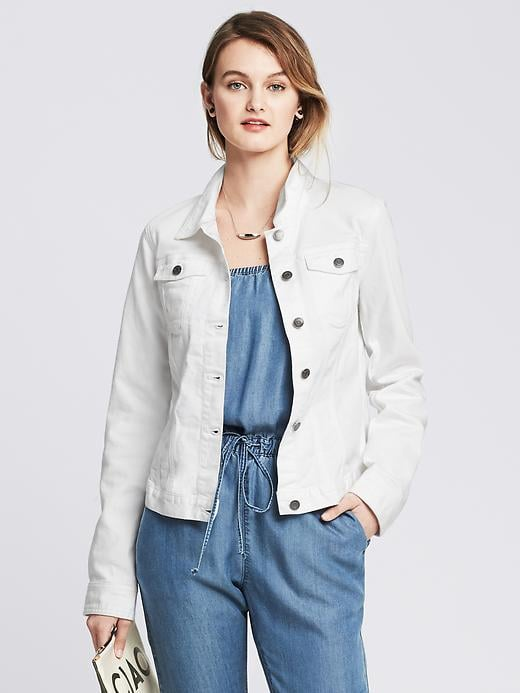 Banana Republic White Denim Jacket ($110)