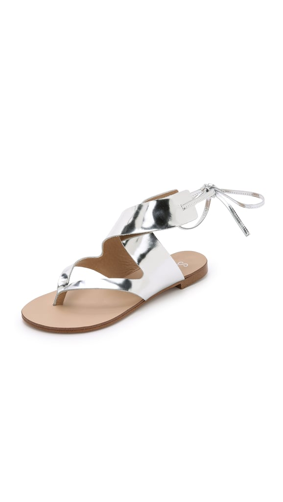 Splendid Metallic Flat Sandals