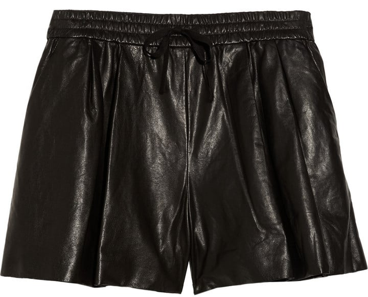 Leather shorts get a dose of athletic-cool with a drawstring waist and slouchy fit. 3.1 Phillip Lim Drawstring Leather Shorts ($675)
