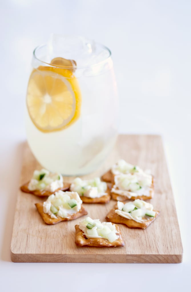 Ginger Lemonade + Swiss Pretzel Bites