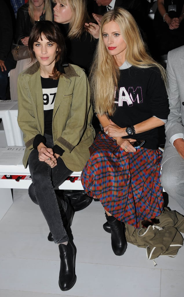 Alexa Chung and Laura Bailey made one cool duo in Simone Rocha's front row.