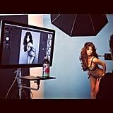 Kim Kardashian stripped down for a photo shoot. Source: Instagram user kimkardashian