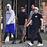 Jonah Hill and Adam Levine in NYC July 2016