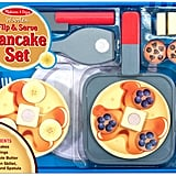 Melissa & Doug Kids' Wooden Flip & Serve Toy Pancake Set