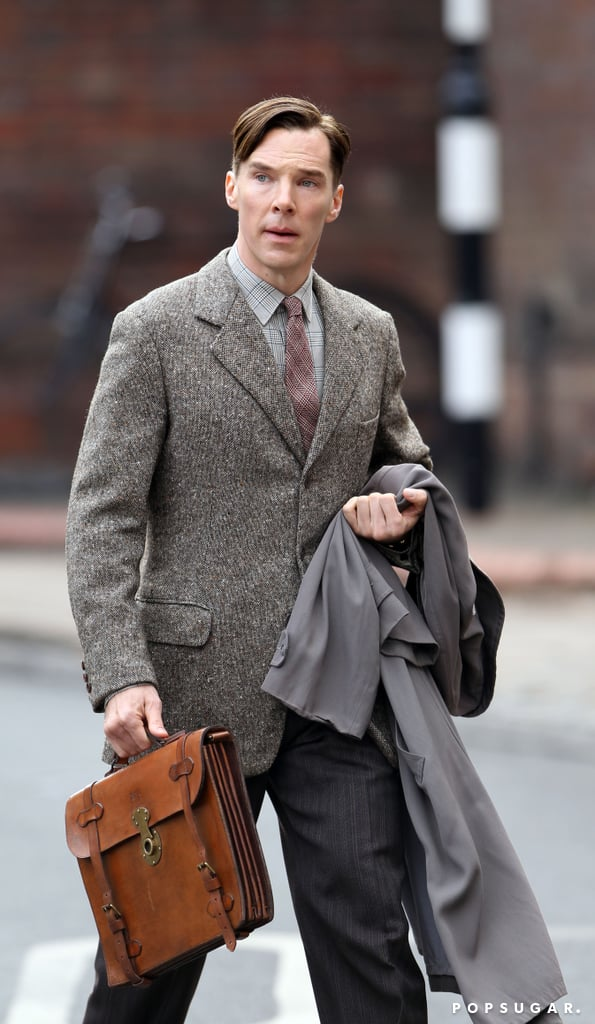 Benedict Cumberbatch wore a suit and tie on set in London.