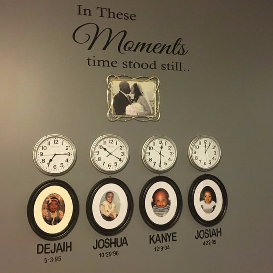 Family Birth Time Clock Wall